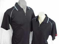 X-30 Polo Shirt Unisex in Black
