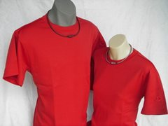 Raku Mesh T-Shirt in Red