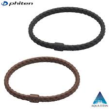 Phiten Bracelet S Leather Touch - Pair
