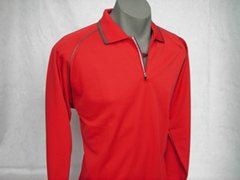 X-30 Long Sleeve Polo Shirt Unisex in Red
