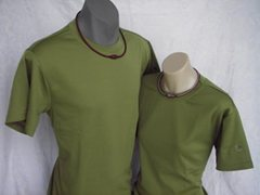 Raku Mesh T-Shirt in Tea Green