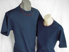 Raku Mesh T-Shirt in Navy
